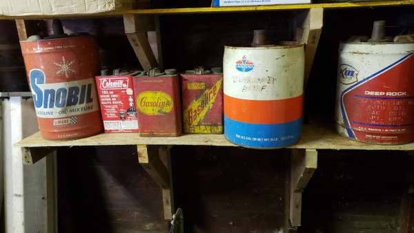 Photo Vintage Gas Cans - $25