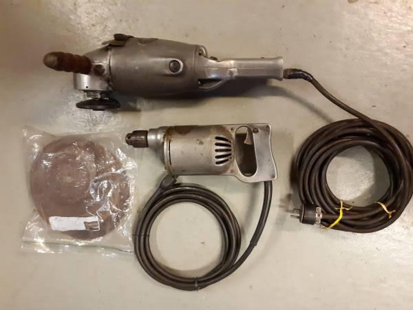 Photo Vintage HD Electric Tools -7quot Orbital SanderGrinder  516quot Drill - $60 (Sheboygan Falls)