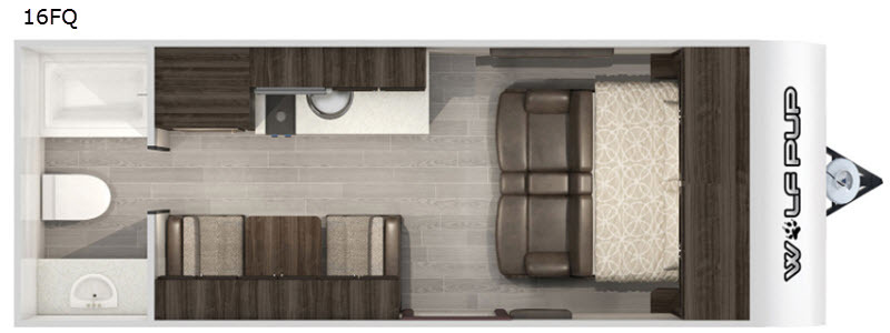 Photo 2021 Forest River Rv Cherokee Wolf Pup 16FQ $ 13998