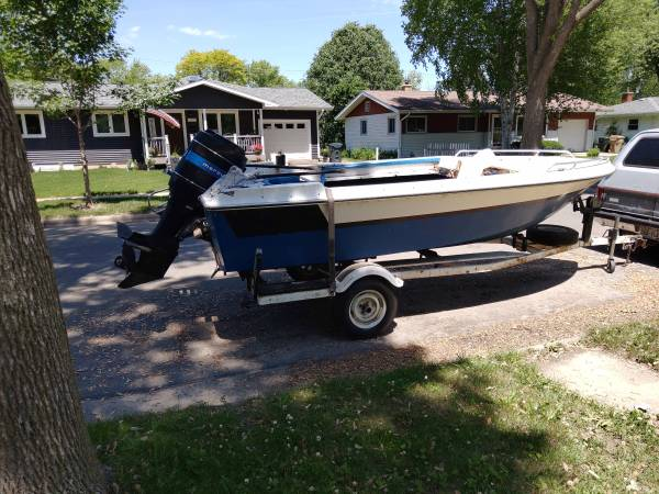 Photo boat, trailer and motor for sale - $1,000 (Madison)