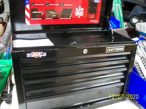 Photo craftsman 5 drawer top cabinet black new - $60 (sheboygan)