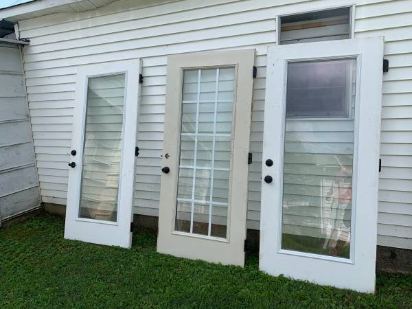 Photo 3 Heavy Duty Glass Doors$95 Each - $95 (Florence, Al)