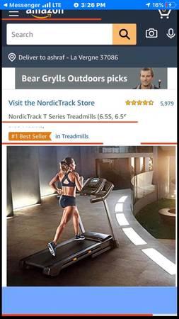 Photo Nordic Track T6.5 Treadmill Brand New In The Box - $699 (LaVergne)