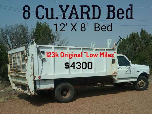 Photo 1996 Ford F350 Super Duty 8 yard truck,122k miles, 460, Lift gate - $4,300 (White Mountain Lake, AZ)