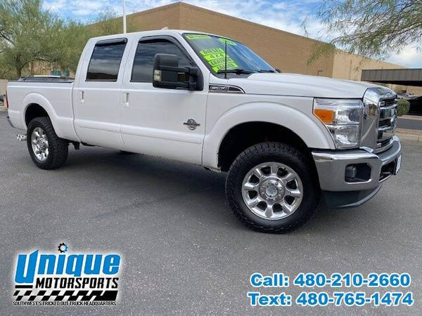 Photo 2014 FORD F-250 CREW CAB LARIAT  LOW MILES  6.7L TURBO DIESEL TRUC - $46,995 (DELIVERED RIGHT TO YOU NO OBLIGATION)