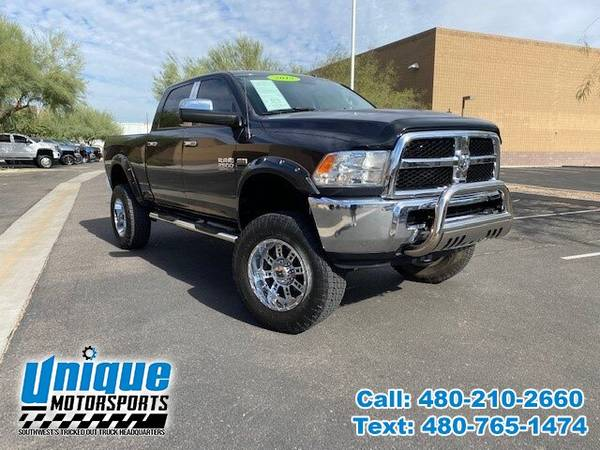 Photo 2015 RAM 2500 SLT CREW CAB TRUCK  LOTS OF EXTRAS  LIFTED 40K ORIGI - $37,995 (DELIVERED RIGHT TO YOU NO OBLIGATION)