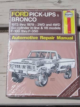 Photo Ford TruckBronco Repair Manual 73-79 - $20 (Show Low)