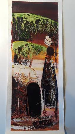 Photo Hand painted art from African Tribeperson can mail to you - $8 (Rio Verde)