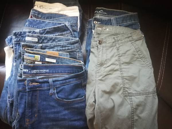 Photo Jeans - 7 Pair, Capris - 2 pair (Total 9 Pair) SIZE 10 - $85 (Lakeside)