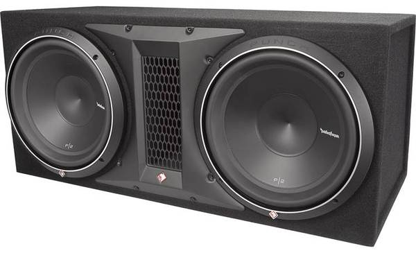 Photo Rockford Fosgate P2-2X12 Ported enclosure with two 12quot Punch P2 subwoo - $250 (concho)