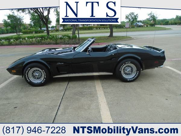 Photo 1974 CORVETTE CONVERTIBLE AUTOMATIC LOTS OF NEW PARTS AC PS WAS LS4 - $19500 (Irving, TX)