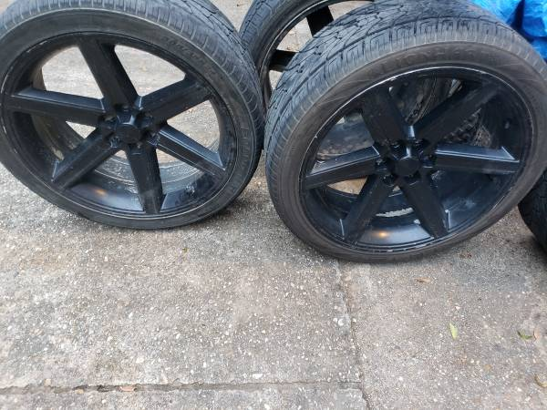 Photo 24quot Rims and Tires Chevy 6 Lug - $450 (Homer)