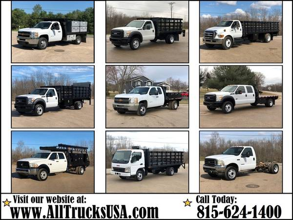 Photo FLATBED  STAKE SIDE TRUCKS  CAB AND CHASSIS PICKUP 4X4 Gas Diesel