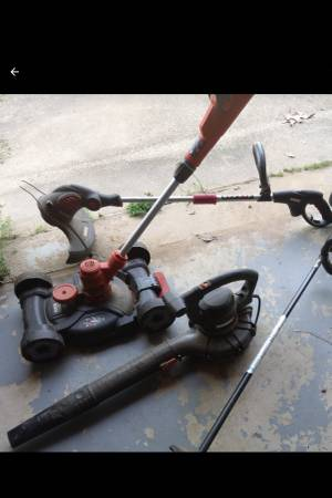 Photo Fireplace Guard  Blower  2 Weedeaters (Greenwood)