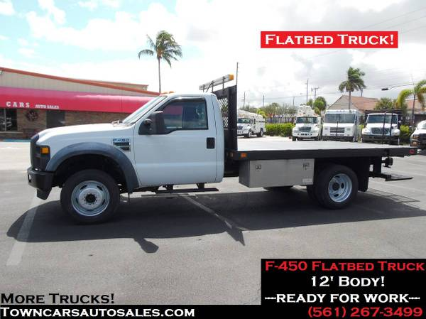 Photo Ford F450 F-450 Pickup 1239 FLATBED TRUCK Flat Bed Dually Truck - $16,900 (F450 Flatbed Truck)