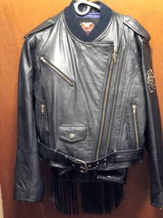 Photo Genuine Harley Davidson Vintage Thick Leather Riding Jacket with Chaps - $300 (Shreveport)