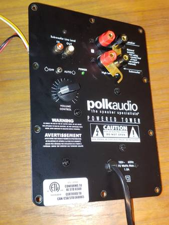 Photo Polk Audio RTi100 Subwoofer Amps for PartRepair - $20 (Tyler - Chapel Hill)