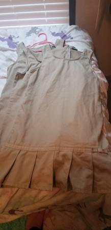 Photo Size 10 little girls 3 uniform dresses - $23 (Stonewall)