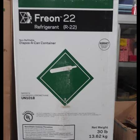 Photo VIRGIN REFRIGERANT R22 30LBS. SEALED - $350 (CHANNELVIEW)
