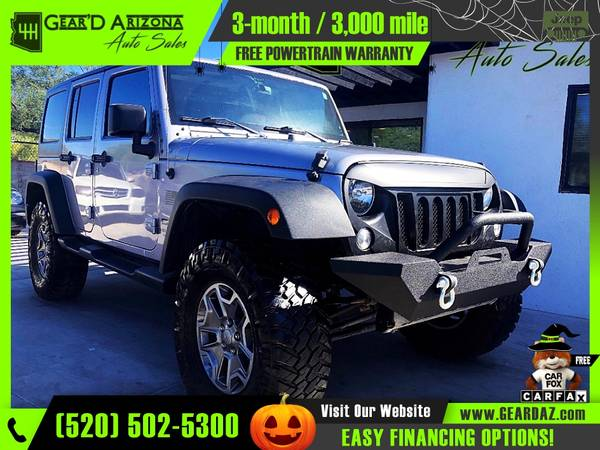 Photo 2015 Jeep Wrangler Unlimited for $22,995 or $354 per month - $22,995 (GearD Arizona - Tucson)