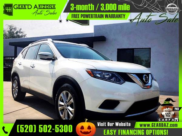 Photo 2016 Nissan Rogue for $10,899 or $168 per month - $11,499 (GearD Arizona - Tucson)
