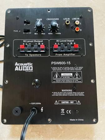 Photo ACOUSTIC AUDIO PSW600 SUBWOOFER POWER AMPLIFIER - $50 (SIERRA VISTA)