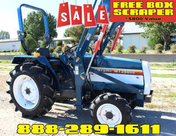 Photo Mitsubishi MT2501 Tractor FREE Box Scraper Included - $800 Value (Call Us About Our Lay-A-Way Program Today)