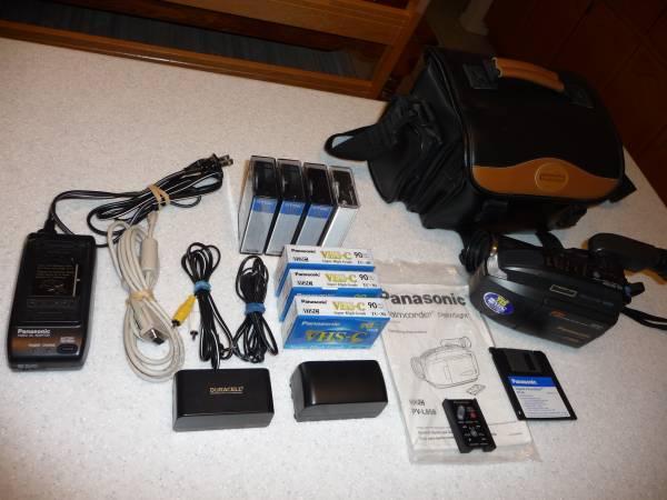 Photo Panasonic Palmcorder  accessories - $75 (sierra vista, az)