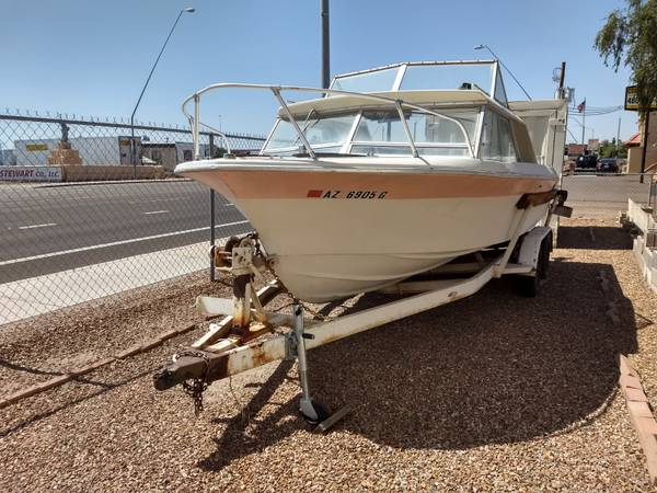 Photo SALT WATER FISHING BOAT 2139 Reinell Open Cuddy Bare Hull Reconstruct (Mesa)