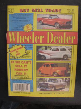 Photo WHEELER DEALER BUY SELL TRADE MAGAZINE FROM 1998 - $10 (Chaparral)