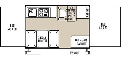 Photo Used 2015 Forest River Travel Trailer RV  $9995