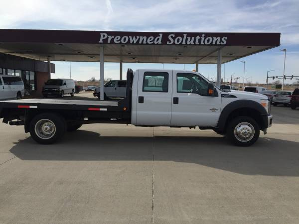 Photo 2012 FORD F450 SUPER DUTY CREW DIESEL FLATBED-EXCELLENT CONDITION - $26500 (DES MOINES)