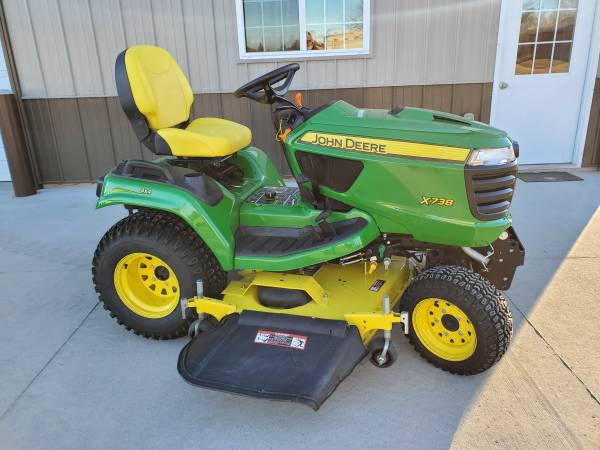 Photo 2017 John Deere X738 4WD Lawn  Garden Tractor with 60 High Capacity M - $8,995 (Sioux City, Iowa)