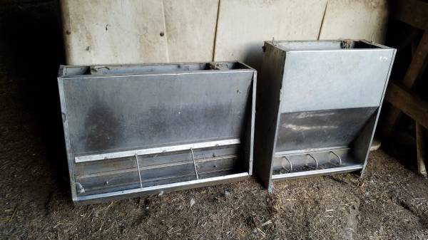 Photo 2 Stainless Steel Hog Feeders For Sale - $50 (Sioux Center)