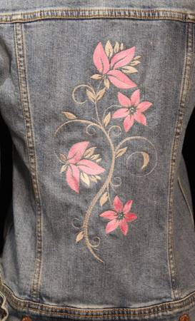 Photo Embroidered XS Old Navy denim jacket - Upcycled - $35