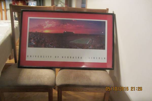 Photo Glory Days --- 3 Husker Framed Pictures - $110 (omaha)