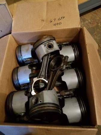 Photo Pontiac 400 GTO rods and pistons - $60 (Cherokee)