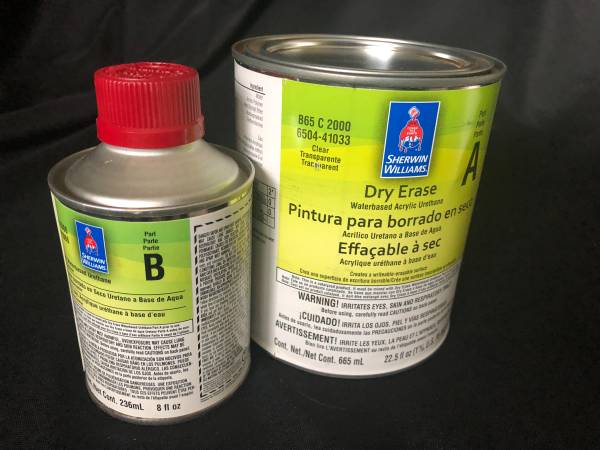 Photo Sherwin-Williams Dry Erase Paint, New - $15 (East Lincoln)
