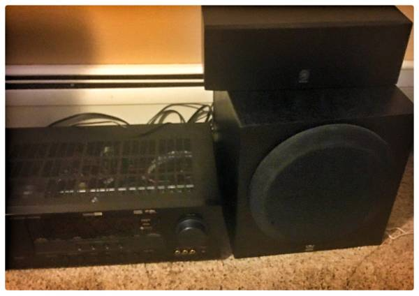 Photo Big Television 55 inch JVC with Yamaha Receiver and Speakers Set - $110 (Westside)