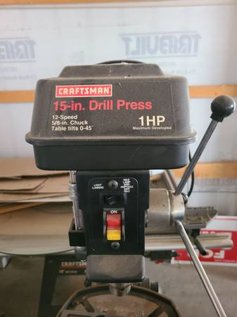 Photo Craftsman 15in 1 hp drill press - $400 (Sioux Falls)