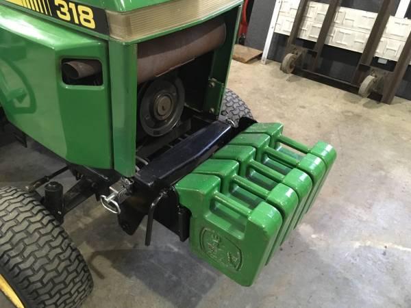 Photo John Deere 318 Front Custom Weight Bracket - $200 (Sioux Falls)