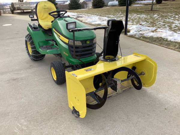 Photo John Deere X540 mower w snowblower - $5600 (Canton)