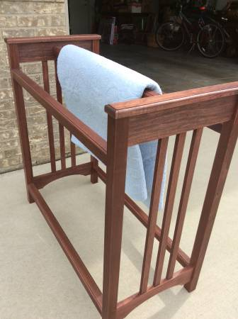 Photo Mission Style Quilt Rack - $50 (Sx Falls)