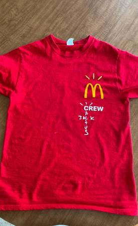 Photo Travis Scott athletic McDonalds tee - $200 (Sioux Falls)