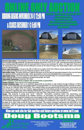Photo large quonset building on .35 of an acre