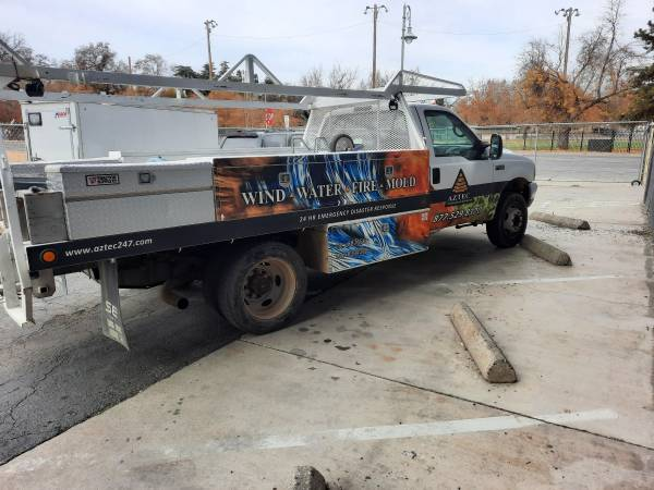 Photo 2001 Ford F-450 Dually utility bed - $15,000 (Redding)