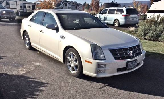 Photo 2008 Cadillac STS, RWD, White, Sell-Trade For 2DR Jeep Wrangler - $11,500 (White City, Central Point)