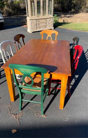 Photo Dining table Pottery Barn - $850 (Weed)