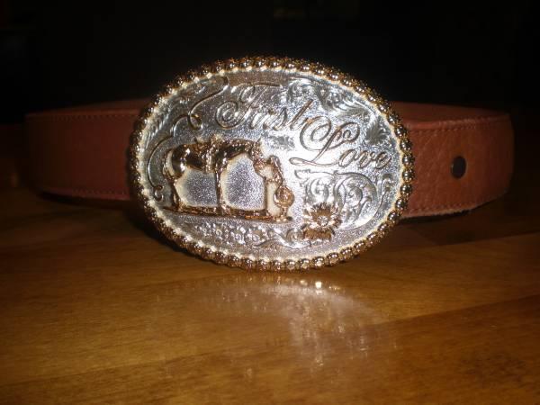 Photo Montana Silver Belt Buckle  Leather Belt - $90 (Sam39s Valley)