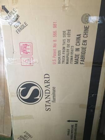 Photo REDUCED-QUEEN BED Still in box (Not mattress or box spring) - $125 (Mount Shasta)